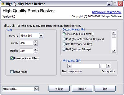 high quality photo resizer
