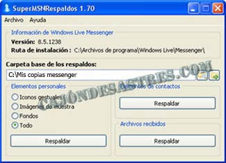 backup copias seguridad messenger